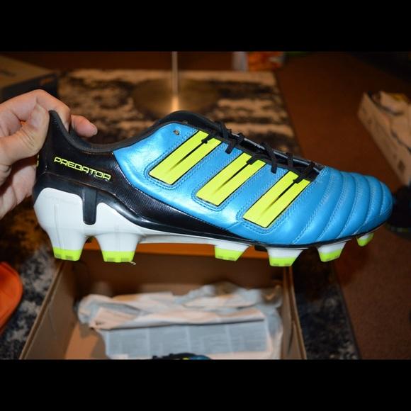 adidas Other - Adidas Predator TRX FG Sz 9.5 (Blue  Neon Yellow) 06a5ecf0c8e5